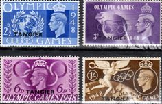 Morocco Agencies TANGIER 1948 Set Olympic Games Fine Mint SG 257/60 Scott 527/30 Other Tangier Stamps HERE