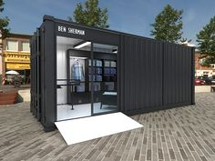 Ben Sherman Container Store by Jair Barrón, via Behance