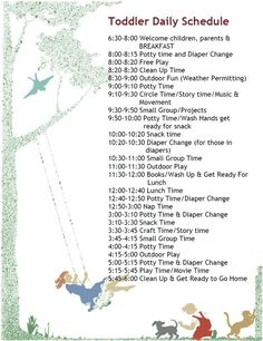 Another toddler schedule. I'm swiping these from daycares...: