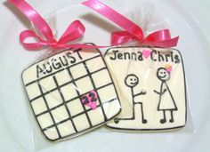 Custom Decorated Gourmet Engagement Save The Date Sugar Cookie Favors Wedding Cookie Wedding Bridal Shower Calendar Cookie Proposal Cookie