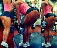 IFBB Bikini & Fitness Model Ramona Valerie Alb Legs and Glutes Workout .