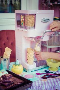 Mix It In™ Soft Serve Ice Cream Maker - gadgets Cool Kitchen Gadgets, Cool Gadgets, Cool Kitchens, Tech Gadgets, Kitchen Tools, Electronics Gadgets, Technology Gadgets, Kitchen Utensils, Gizmos And Gadgets