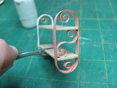 Dollhouse Miniature Furniture - Tutorials | 1 inch minis: How to make a miniature shelf