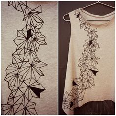 DIY: flutter tee | I love the geometric pattern, very cool.