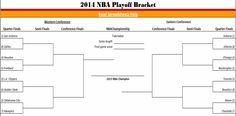 2014 #nba playoff bracket in Excel