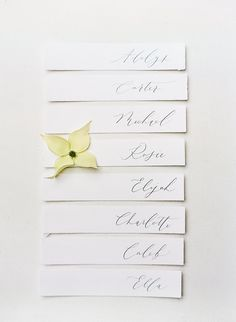 Corson Building Wedding - Fine art place cards by Kelsey Malie Calligraphy with Callista & Co || The Ganeys