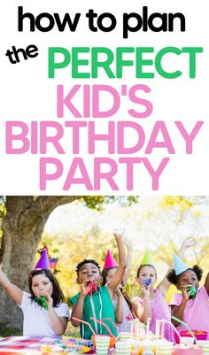 Planning the perfect kids birthday party doesn't have to be nerve-wracking, on the contrary, it can be a thrilling process for everyone. #birthday #kids #fun #planaparty #theme Working Moms, Birthday Parties, How To Plan, Party, Kids, Anniversary Parties, Young Children, Boys, Birthday Celebrations