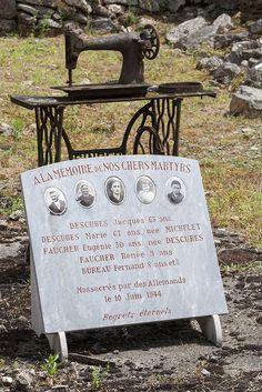 Memorial in Martyr Village - Oradour-sur-Glane, France