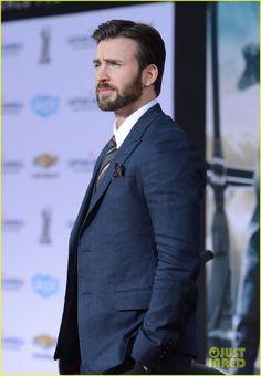 Chris Evans & Emily VanCamp Premiere 'Captain America: Winter Soldier' in Hollywood!
