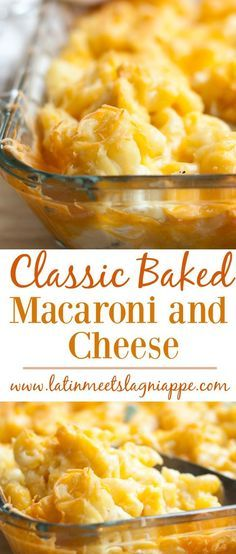 This Classic Baked Macaroni and Cheese is a delicious side dish for any occasion.