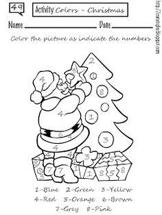 Una ficha para reforzar el aprendizaje de colores, con motivo navideño. He tenido muy poco tiempo, pero espero poder subir más actividades inspiradas en la Navidad.