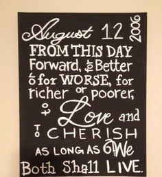 Personalized Wedding Vow Canvas