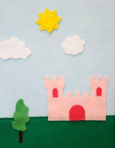 Princess Castle Felt Board Set. $25.00, via Etsy. Charming Felt adorable!