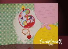 """Interior de tarjeta modelo """"Bambina 6 anni"""", de 15 x 14cm. Tambièn se puede crear con el nùmero de la edad que se desea."""