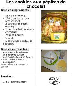 Site internet de l'école maternelle Danielle Casanova - Les cookies aux pépites de chocolat
