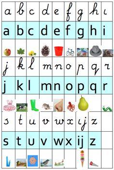 Letterblad Leesletter t.o.v. Schrijfletters. 1 met plaatjes en 1 zonder. Spelling, Montessori, Homeschool, Letters, Writing, Education, Google, Handwriting, Nostalgia