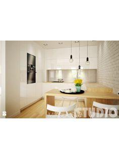 jasne drewno   Designerska kuchnia - zdjęcie od MIKOŁAJSKAstudio