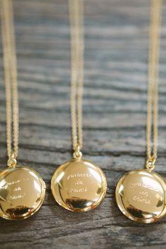 kate spade locket necklace bridesmaid gift