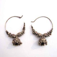 Traditional Antique Vintage Look Old Silver Beautiful Jhumka Dangle Earring  #viditajewels