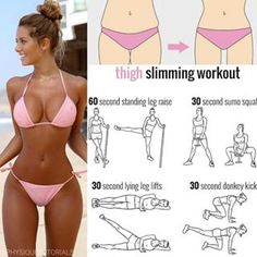 Best thigh slimming exercises! Follow us (@physiquetutorials) for the best daily workout tips ⠀ All credits to respective owner(s) // DM Tag a friend who'd like these tips
