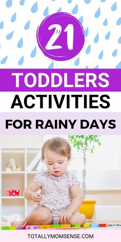 Don't we all love rainy days? Watching the rain pour outdoors while you get to enjoy a hot cup of coffee sounds amazing but what if along with this you also have a one year old who is just too bored and driving you insane! Trying to keep little ones occupied while it rains outside can get really tricky at times. Find these 21 fun and engaging indoor as well as outdoor activities for one year that you can do with your little ones on a rainy day to keep them busy. #activitiesforoneyearolds Activities For One Year Olds, Kids Activities At Home, Rainy Day Activities, Toddler Learning Activities, Parenting Toddlers, Educational Activities, Preschool Activities, Outdoor Activities, Parenting Tips