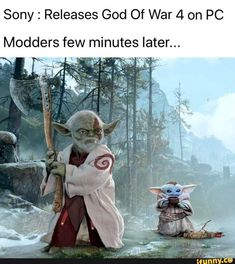Sony Releases God Of War 4 on PC Modders few minutes later. Video Game Memes, Video Games Funny, Funny Games, Gamer Humor, Gaming Memes, Stupid Funny, Hilarious, Funny Stuff, Kratos God Of War
