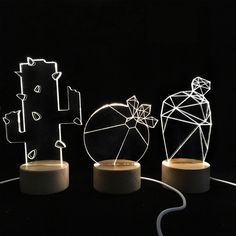 2016 LED light DIY Hand made Cute idea for small plants Electronic DIY Decorate your windowsill/desk fresh and beautuful
