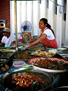 Offering up street food in Bangkok
