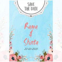 Blue Floral, Blue Flower, Wedding Card, Undangan, Undangan Pernikahan, Wedding Invitation