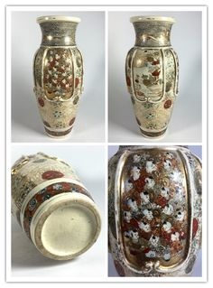 Japanese late 19th century or early 20th century Kyoto school Satsuma with many faces decoration.