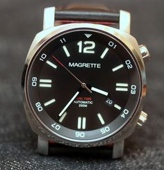 Looking for a simple way to track a second time zone in a compact cushion case watch? Then the Magrette Dual Time is your answer.