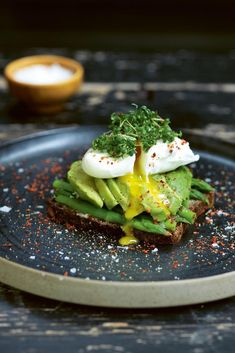 Learn how to make avocado toast with asparagus and a poached egg from Trine Hahnemann's new cookbook, which is all about open-faced sandwiches.