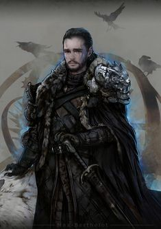 ArtStation - Game of Thrones - Jon Snow, Max Berthelot Game Of Thrones Artwork, Game Of Thrones Fans, Jon Snow Wolf, Casa Stark, House Stark, A Dream Of Spring, Game Of Trone, The Winds Of Winter, A Dance With Dragons