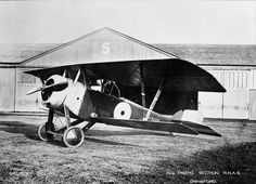 FRENCH AIRCRAFT FIRST WORLD WAR 1914 - 1918 (Q 68144) Nieuport 12 two-seat corps reconnaissance aircraft. Serial number N9233. RNAS Station Chingford.
