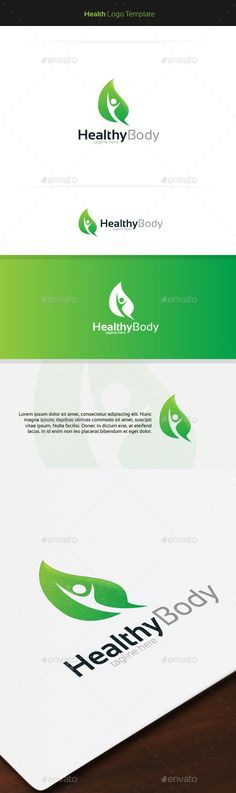 Healthy Body Logo — Vector EPS #health #garden • Available here → https://graphicriver.net/item/healthy-body-logo/11403591?ref=pxcr
