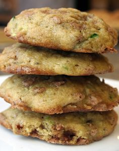 The Last Zucchini Cookie Recipe You'll Ever Need - lots of variations, including Pineapple Zucchini omit butter for coconut butter, omit sugar for coconut sugar/stevia, omit flour for grain free alternative like quinoa. Fruit Cookies, Galletas Cookies, Cookie Desserts, Yummy Cookies, Oat Cookies, Zucchini Cookie Recipes, Zuchinni Recipes, Zucchini Bread, Sugar Free Zucchini Cookies