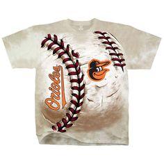 Baltimore Orioles Hardball Tie-Dye T-Shirt - Cream