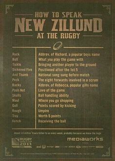 How to speak New Zillund at the rugby