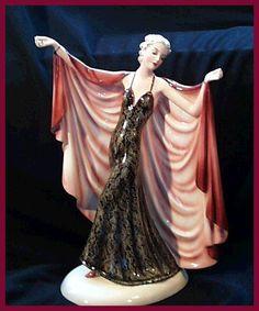 Goldscheider Dakon Flapper Deco Lady Figurine.