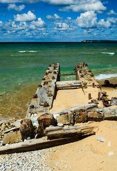 Shipwreck at Sleeping Bear Dunes, MI, USA