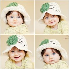 Crochet hat patterns and designs for babies are available for free from the online world.Crochet hats are perfect for babies during winter season. Crochet Summer Hats, Crochet Cap, Crochet Baby Hats, Crochet For Kids, Crocheted Hats, Red Hats, Crochet Patterns, Crochet Ideas, Hat Patterns