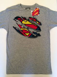 Official SUPERMAN Mens SUPERHERO Uniform Logo T Shirt from Primark LICENSED