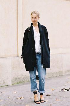 ゆるゆるデニムの着こなしルール★ポイントはロールアップのバランス感にあり の画像|Snapmee スナップミー - ストリートスナップ、セレブファッションスナップ