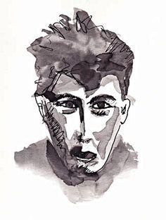 ink illustration by Sybille Bibelas