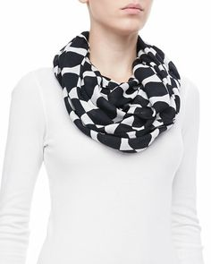 logo bow infinity scarf by kate spade new york at Neiman Marcus.