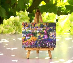 Monet Table Canvas on Easel by #ForMomentsinTime on Etsy