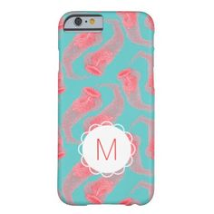 Custom Monogram Vintage Pink Jellyfish iPhone Case Slim iPhone 6 Case  See slim iphone 6 cases you will love http://www.zazzle.com/cuteiphone6cases/slim+iphone+6+cases?dp=252325260711535220&ps=120&rf=238478323816001889&tc=pinslimiphone6cases&pg=2