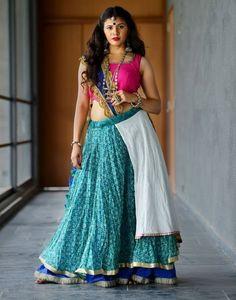 caa678aa276c1d blue printed layered chaniya choli for navratri Punjabi Lehenga, Bollywood  Lehenga, Lehenga Choli Online