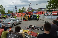#drone Kingfisher (top right), firefighting competition in the rescue operations, Brno, Czech Republic