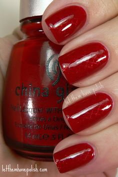 Let them have Polish!: 31 Day Challenge! Day 1- Red Nails